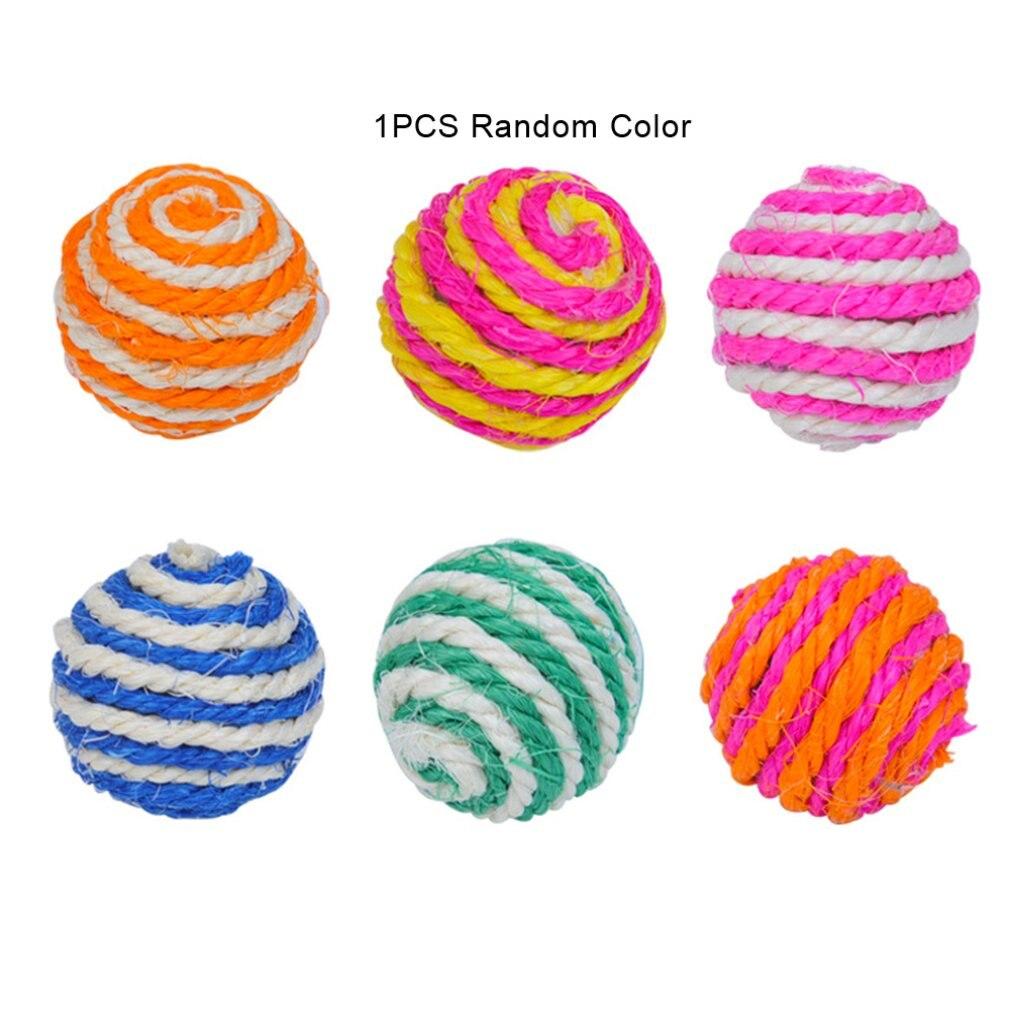 Juguete para masticar de gato de Color aleatorio, juguete para masticar con bolas y rompecabezas con bolas y cuerda para gatos, productos para mascotas, gran oferta