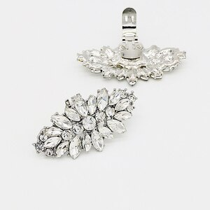 2pcs shoe clip buckle wedding shoes high heels female bride bridesmaid decoration glass rhinestone shiny jewelry accessories