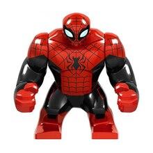 Gran tamaño Marvel hombre araña final de guerra del infinito superhéroes figuras juguetes de bloques de construcción técnica regalo para los niños