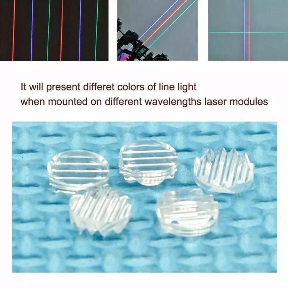 5 шт. 30% 2F45% 2F60% 2F90% 2F120 степень дополнительно синий зеленый красный ИК лазер линия линза для 200–1100 нм линия луч пластик линзы
