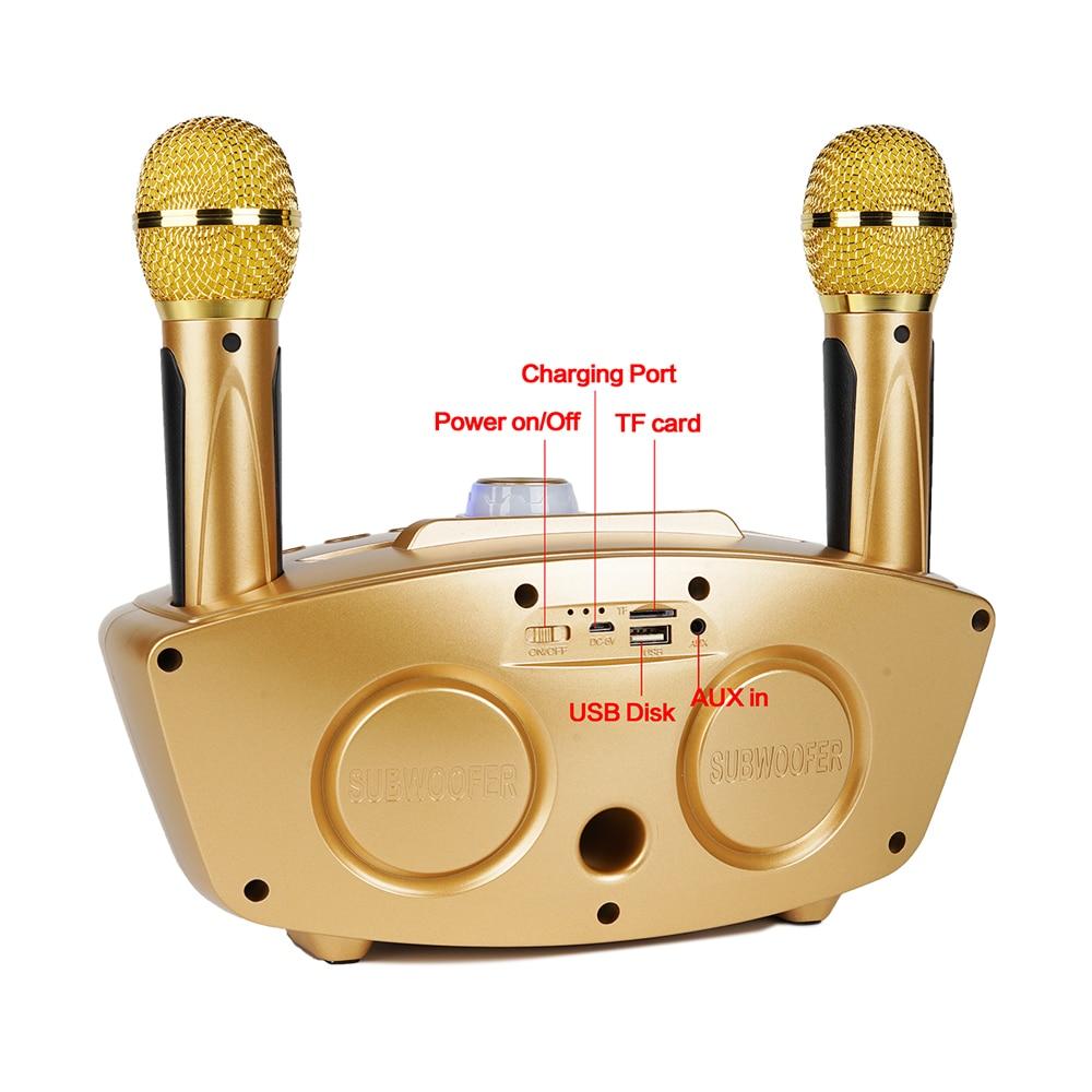 Wireless karaoke microphone singing microphone bluetooth  karaoke home system with speaker YKM02 enlarge