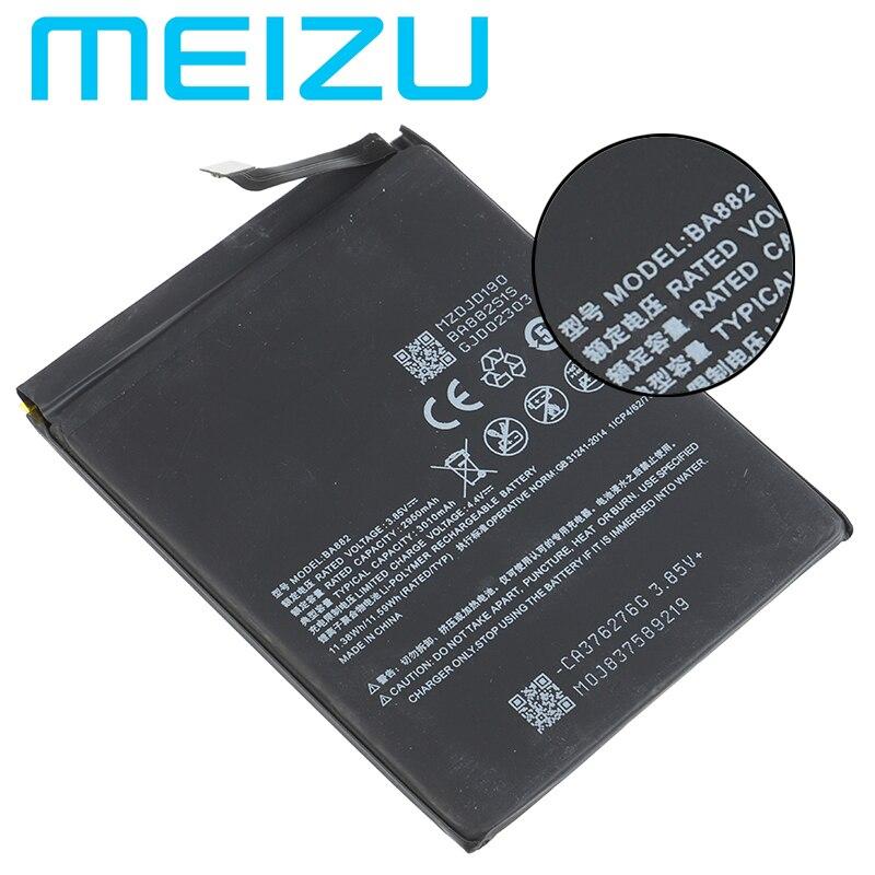 Meizu 100% Original BA882 Batterie Für Meizu 16 16TM 16TH Telefon 3010mAh Hohe Qualität Batterie + Tracking Nummer