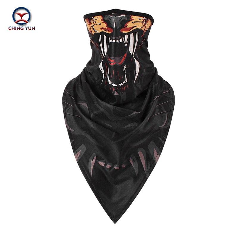 CHINGYUN 2020 máscara de seda de hielo para animales protección solar manga de cuello de montar Impresión digital hombres y mujeres al aire libre deportes triángulo bufanda