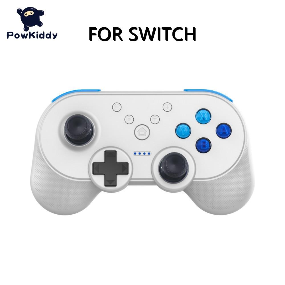 POWKIDDY-وحدة تحكم لاسلكية صغيرة USB ، وحدة تحكم Joy Switch Pro ، وحدة تحكم ألعاب فيديو مع وظيفة NFC
