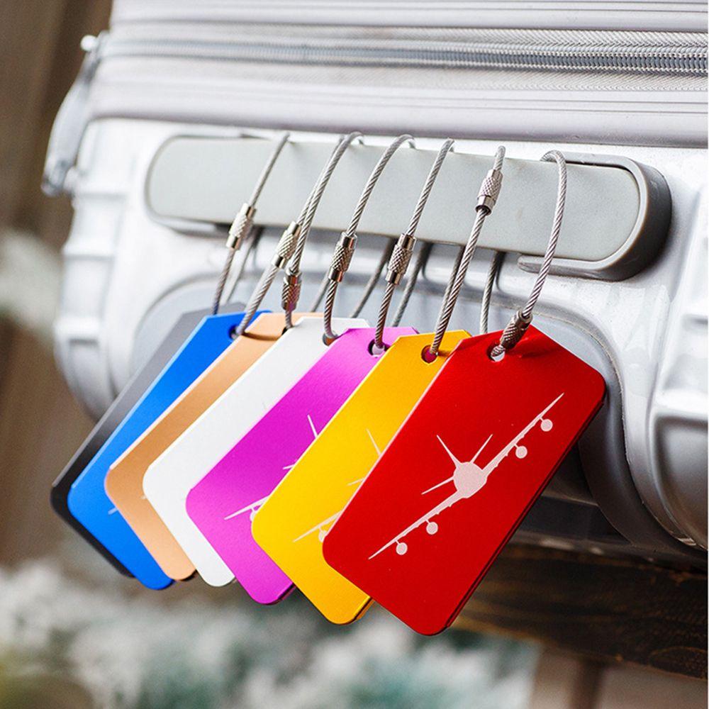 7 шт./упак. Чемодан теги Алюминий сплав масштабных дорожных чемоданов, Имя Адрес Id Новая этикетка