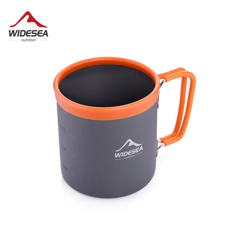 Туристическая алюминиевая чашка Widesea, Туристическая посуда, оборудование для пикника, приготовления пищи, пешего туризма, кофе, горного тур...