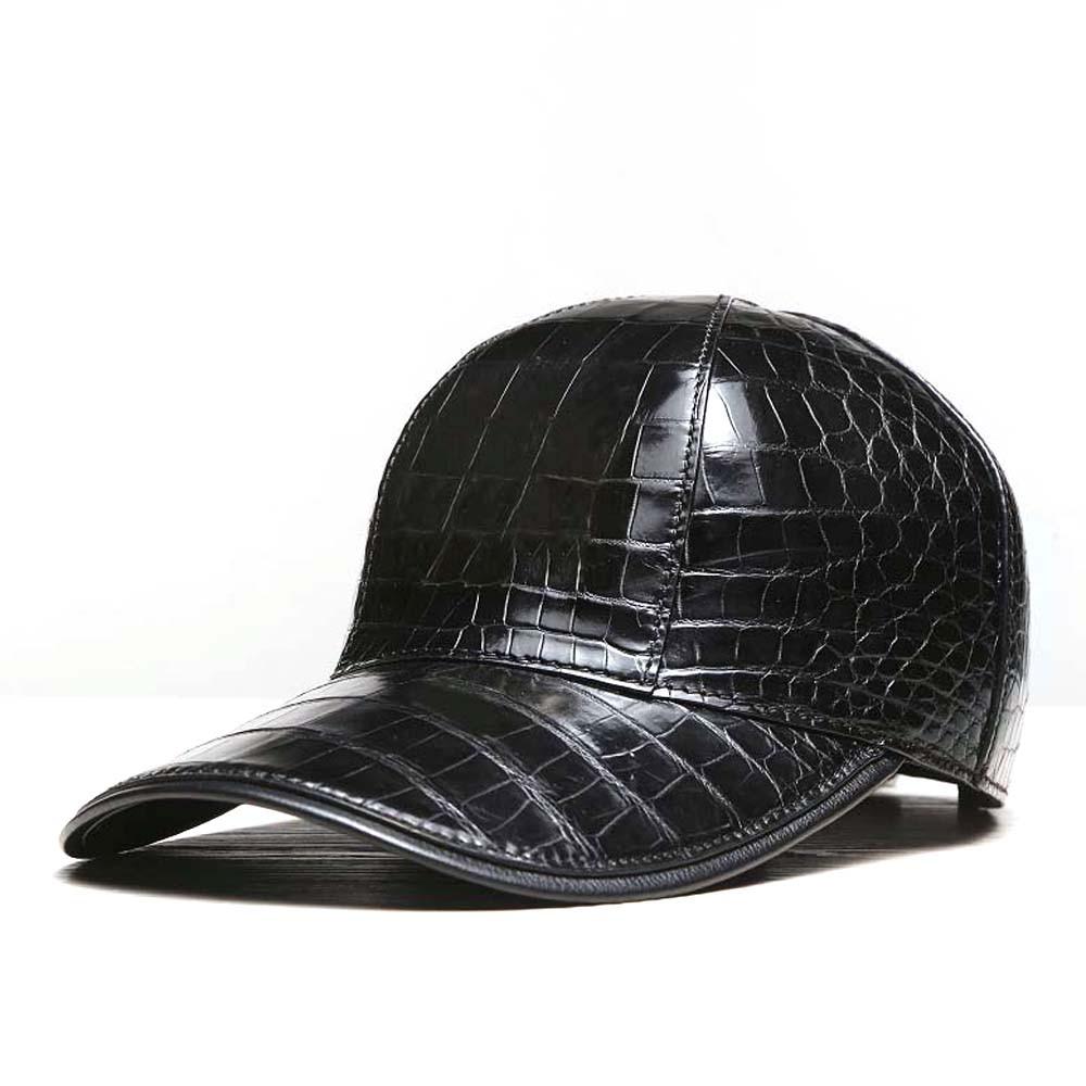 linshe new arrival  crocodile skin  cap  Hat  Men and women  Sun hat  Hip hop hat  Men's tide  peaked cap  Adjustable