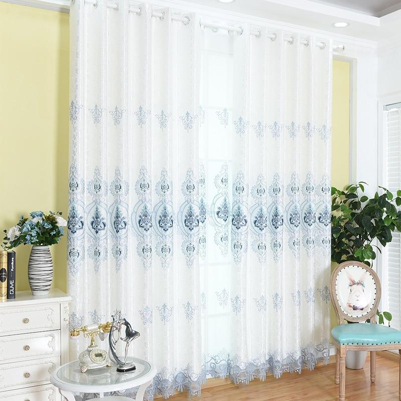 Nuevo bordado soluble en agua cortinas proteger del sol para sala de...