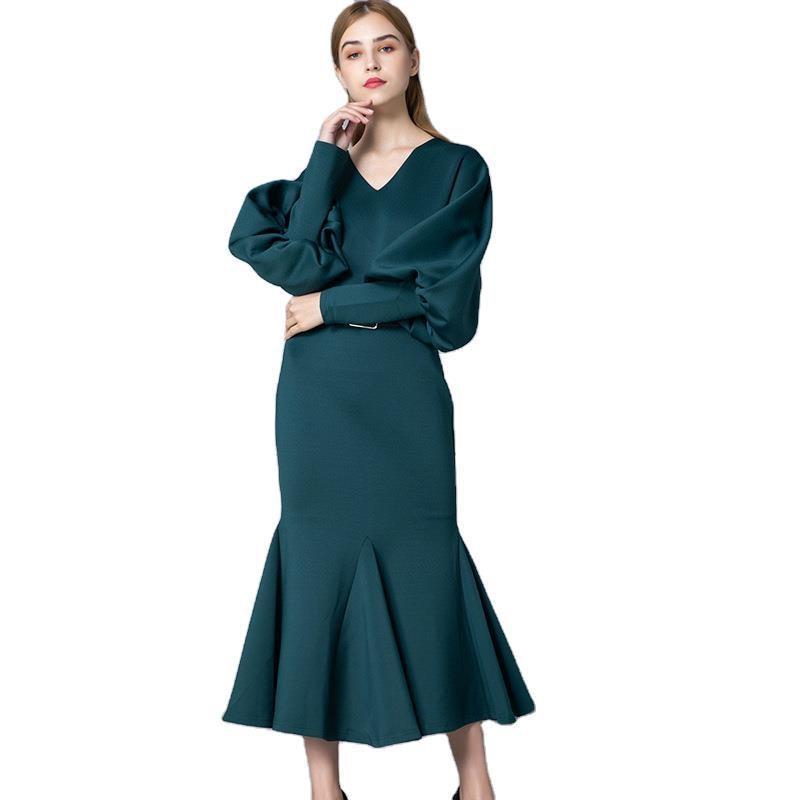 green purple v neck summer girls dresses women long casual sexy office work robe femme bohemian dress plus size free ship2020