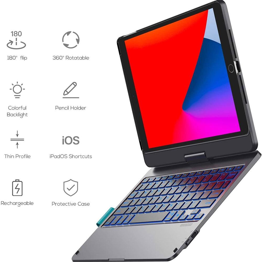 WiWU اللاسلكية لوحة مفاتيح لأي باد برو 10.9 11 بوصة الدورية تصميم مع لوحة اللمس حامل القلم الرصاص لوحة مفاتيح لأي باد برو 10.2 10.5