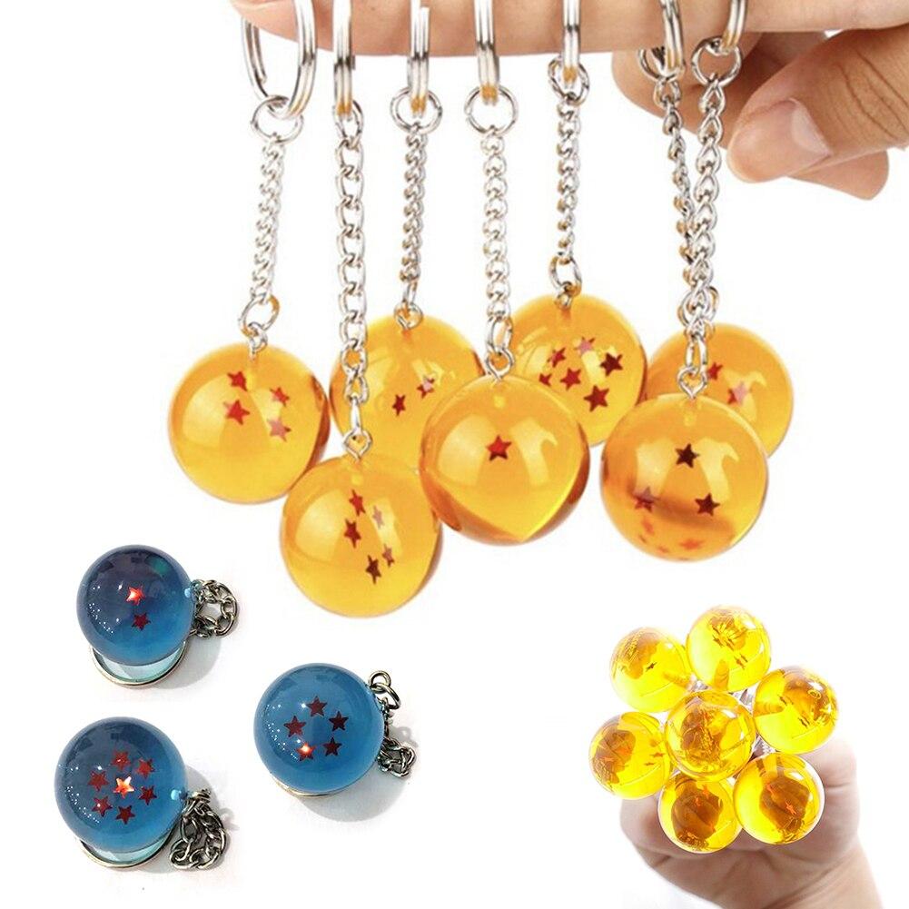 Аниме Гоку Жемчуг дракона супер брелок 3D 1-7 звезд Косплей хрустальный шар цепочка для ключей коллекция игрушек подарок кольцо для ключей