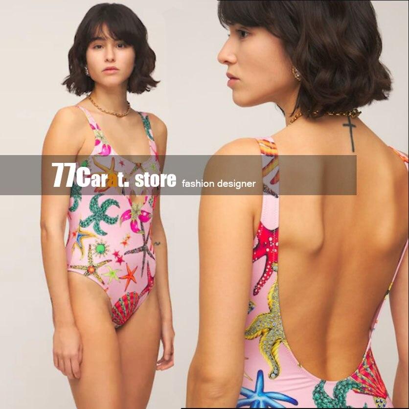 High end модная женская одежда пляжные вечерние комбинезоны детские комбинезоны с принтом в виде морских звезд боди one piece»; Комбинезон для дево...