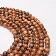 1000 pcs Natural Pattern Sandalwood Beads For Jewelry Making Handmade Fine Polishing DIY Bracelet Ne