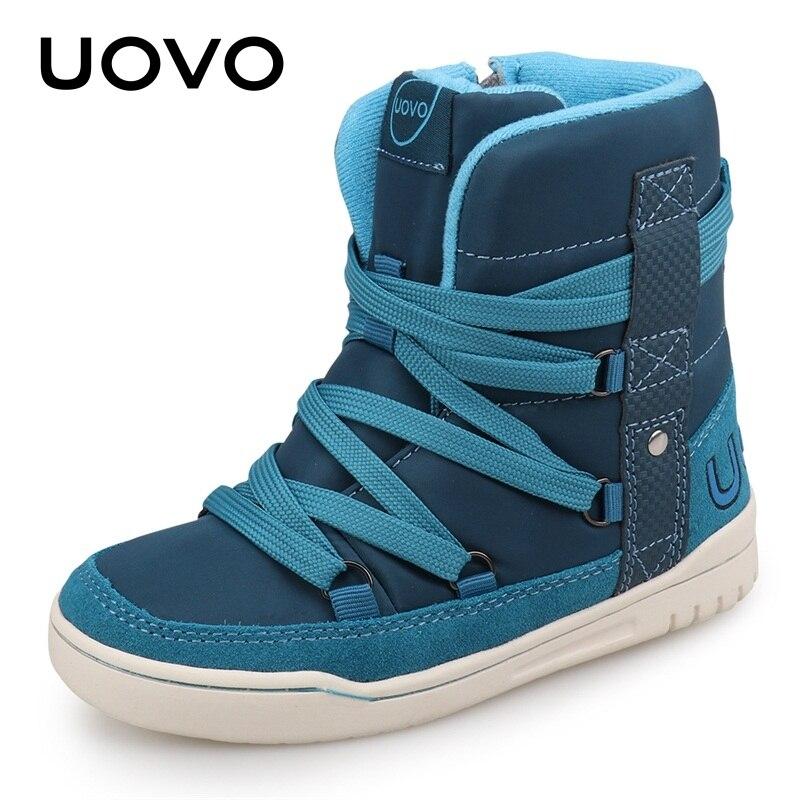 UOVO marca 2020, zapatos de invierno para niños, zapatos deportivos casuales de moda para niños y niñas, zapatos de alta calidad para niños, talla de zapatillas 28 #-39 #