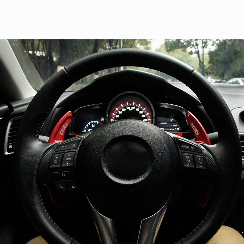Extensión de la paleta del cambio del volante de aluminio del coche para Mazda 3 Axela/Mazda 6 Atenza/CX-5 accesorios interiores de estilo de coche