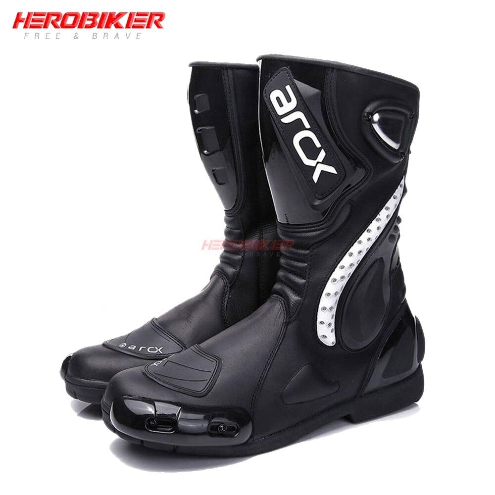 أحذية موتوكروس مقاومة للماء للدراجات النارية ، أحذية رياضية سوداء مقاومة للماء للدراجات النارية ، للفصول الأربعة