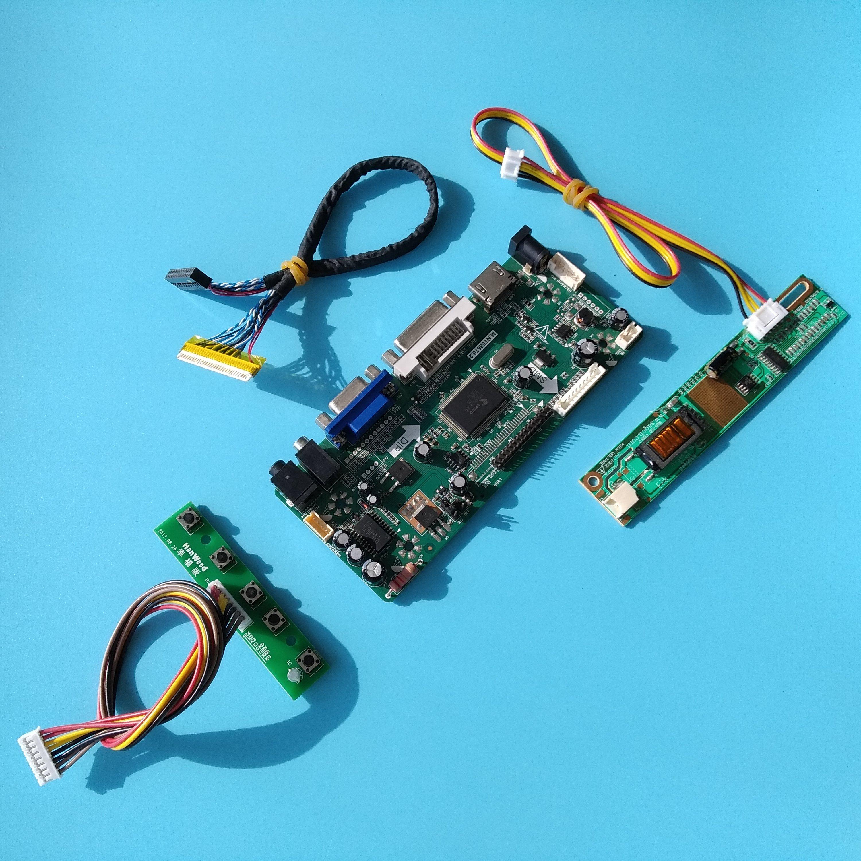 "Para LTN154AT07 1280X800 Placa de controlador AUO Panel pantalla DVI LCD DIY VGA LVDS pantalla HDMI M NT68676 15,4 ""conductor kit"