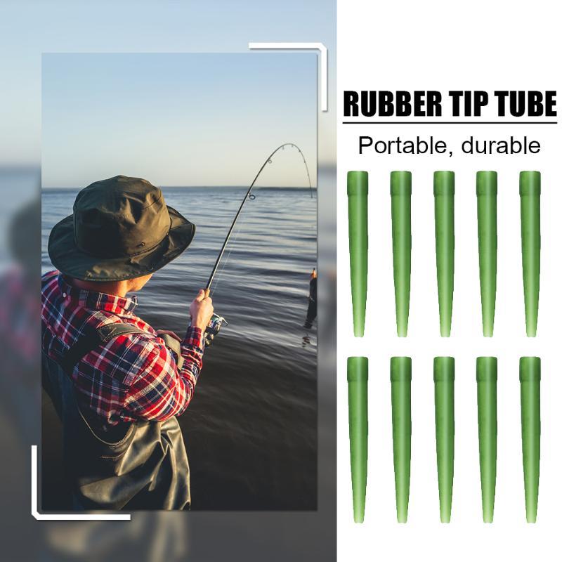 Luva de borracha do gancho de pesca da carpa dos pces 30/50/100 com durabilidade e robustez suficientes tubo alinhador do equipamento do cabelo do anti-emaranhado