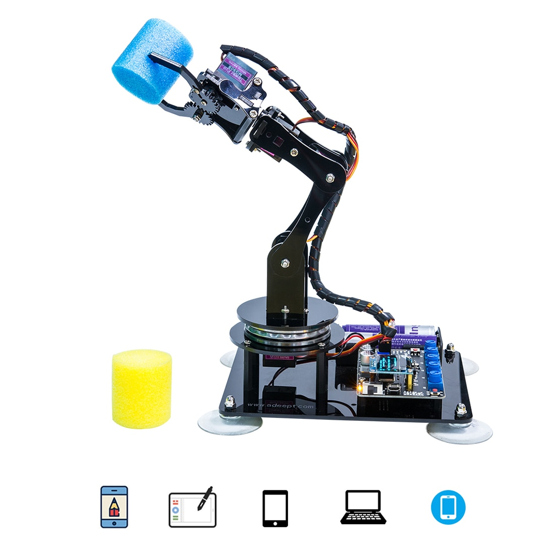New Hot DIY 5-DOF Robotic Arm Kit Stem Robotics Kit With High Quality For Arduino