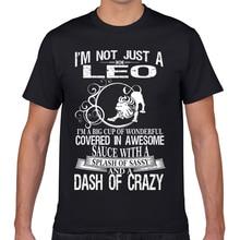 Мужская футболка с надписью leo splash of sassy and dash of crazy Casual Black Geek, Мужская футболка на заказ XXXL