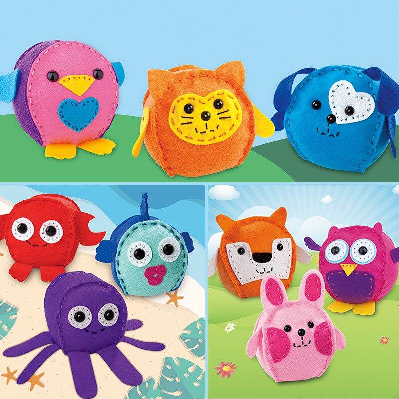 3 шт./компл. креативные самодельные Нетканые игрушки ручной работы для шитья для детского сада куклы-животные ручной работы Игрушки для ранн...