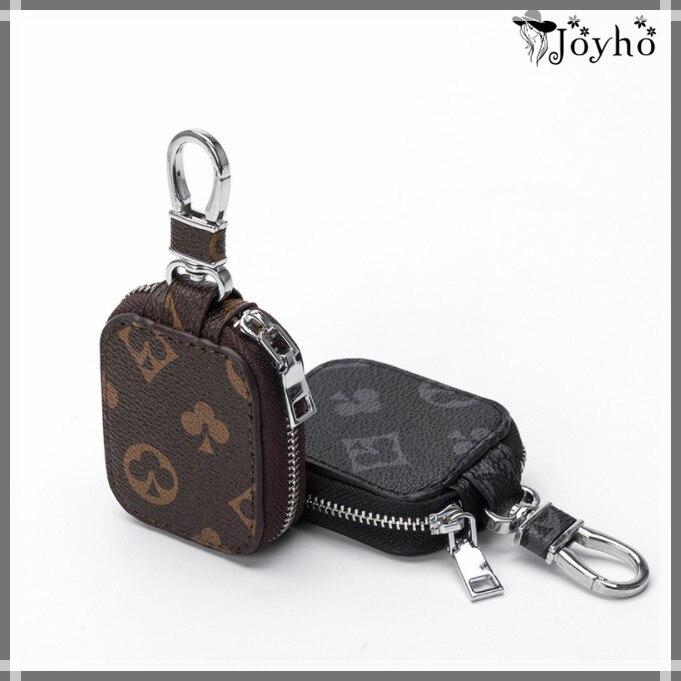 Leather Car Smart Key Wallets Men/Women Fashion Plaid Key Holder Housekeeper Keys Organizer Case Uni