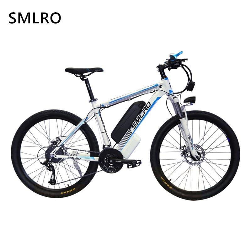 1000W Electric Bike 26-inch Tire Electric Mountain Bike Beach Cruiser Bikes Booster Bicycle 48v 15Ah Lithium Battery Ebikes