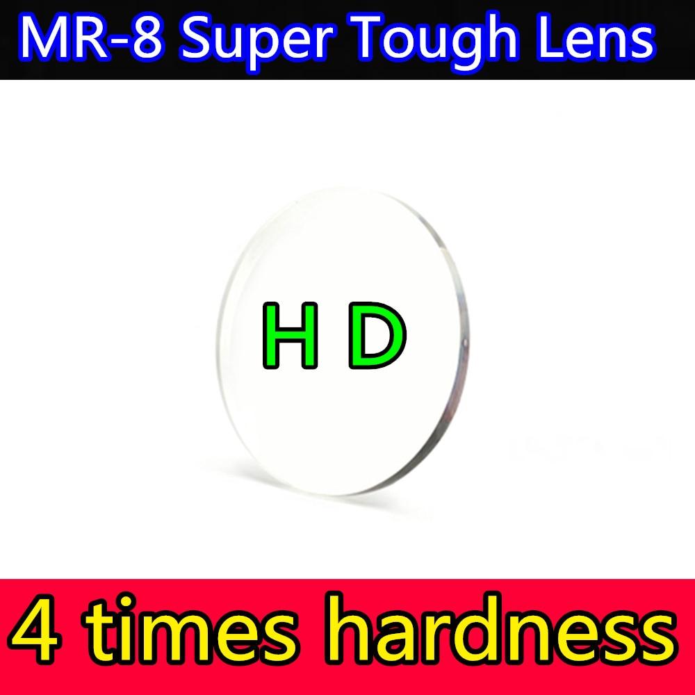 HD وصفة طبية عدسة 1.56/1.61/1.67/1.74 رقيقة شبه الكروية الراتنج قصر النظر البصرية لينيس فائقة صعبة MR-8 سلسلة 4 صلابة الثقيلة