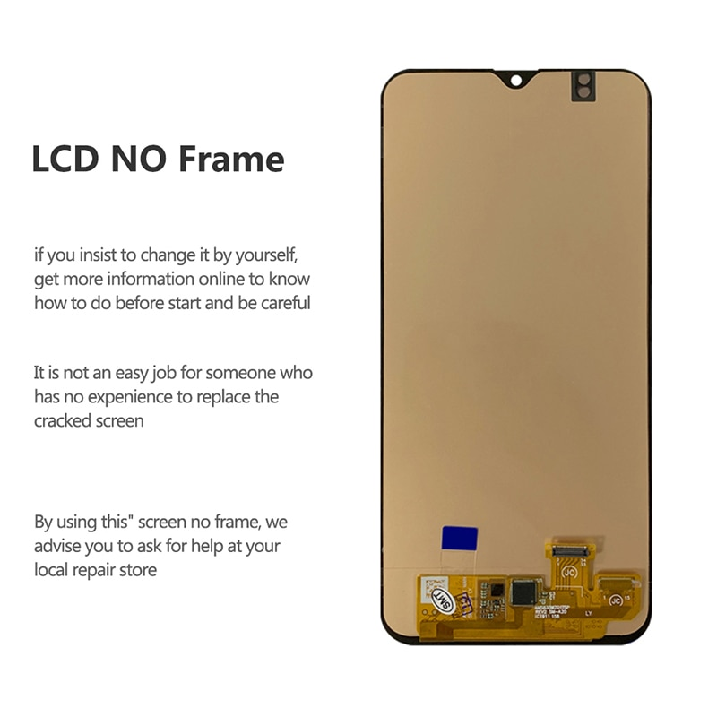 For Samsung Galaxy A20 OLED LCD Display Touch Screen Digitizer With Fingerprint On SM A205F A205 A 20 205F Sm-A205F 100% Test enlarge