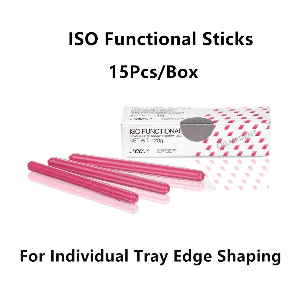 5 صندوق/75 قطعة GC الأسنان ISO وظيفية مجمع العصي إعادة تدوير الانطباع المواد أسنان الأسنان الفردية صينية الشمع