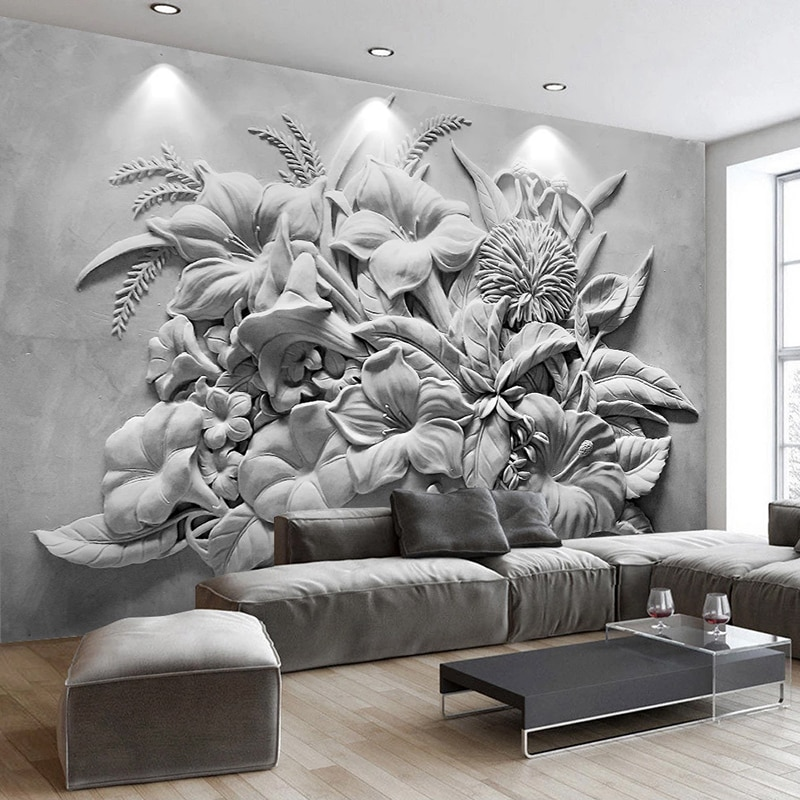 beibehang pastoral flowers wallpaper for walls 3d wall paper for wall 3 d classic embossed tv room bedroom wall paper home decor Custom Photo Wall Papers Home Decor 3D Embossed Flower Bedroom Living Room Sofa TV Background Wall Mural Wallpaper For Walls 3 D