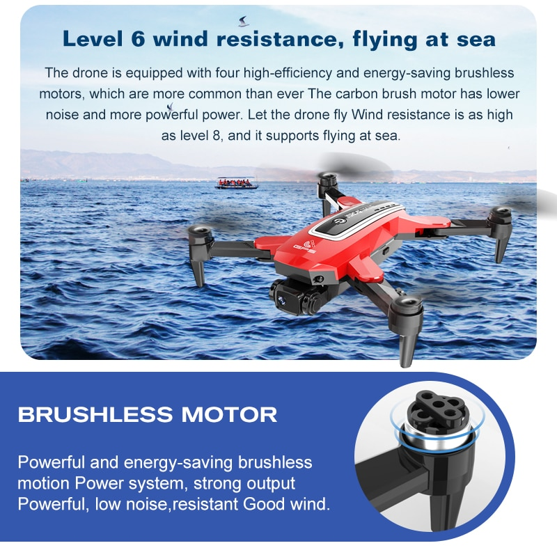 RC Dron S4 Drone with Camera HD 4K GPS Professional 6K HD 5G FPV Long Distance Brushless RC Quadcopter Drones PK SG906 L900 enlarge