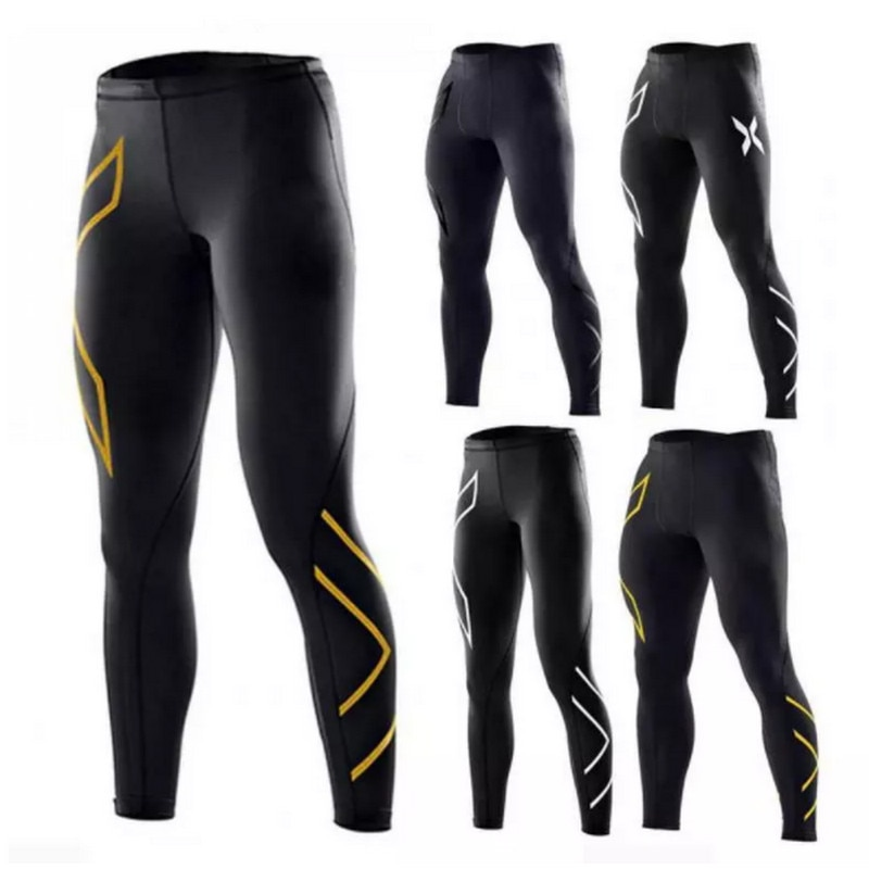 AliExpress - Men's Gym Compression Leggings Sport Training Pants Men Running Tights Trousers Sportswear Dry Fit Jogging Pants Running Tights