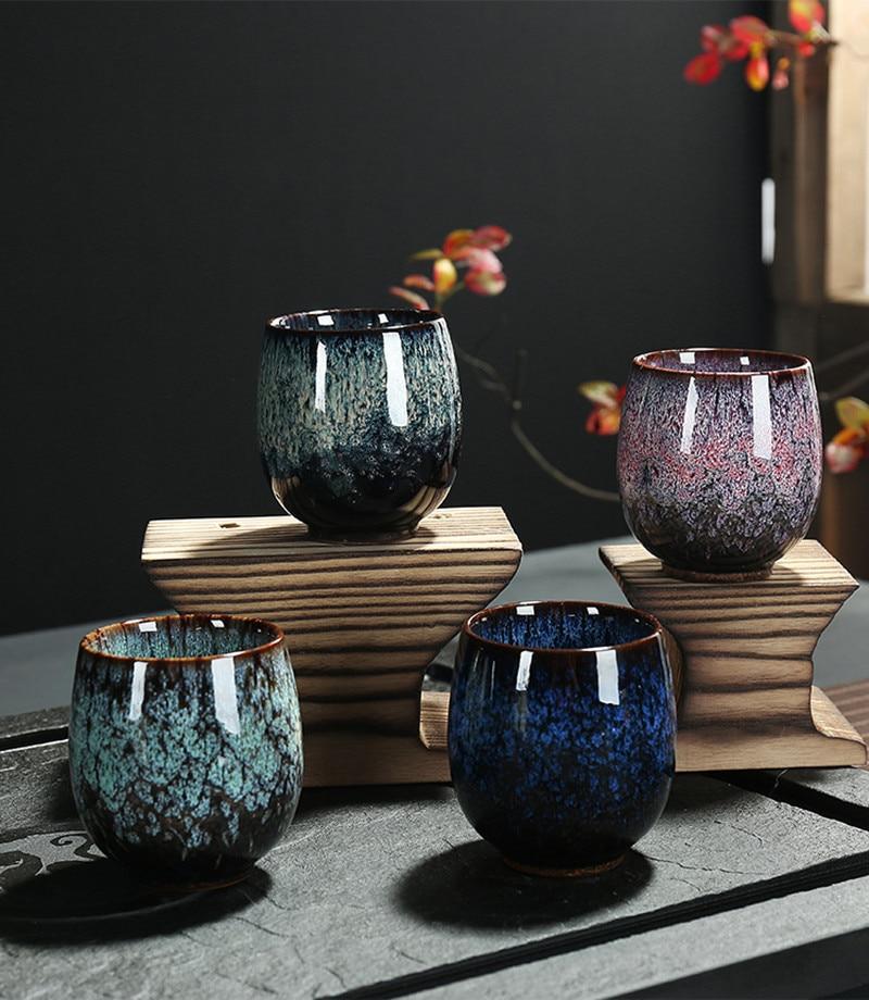 Big Size Ceramic Tea Cup  Kiln Change Porcelain Mug TeaCup Home Kungfu Tea Bowl