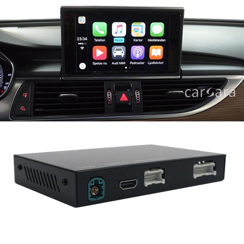 A6 A7 C7 facelift head unit screen wireless carplay interface module box android auto add-on S6 mmi radio system multimedia