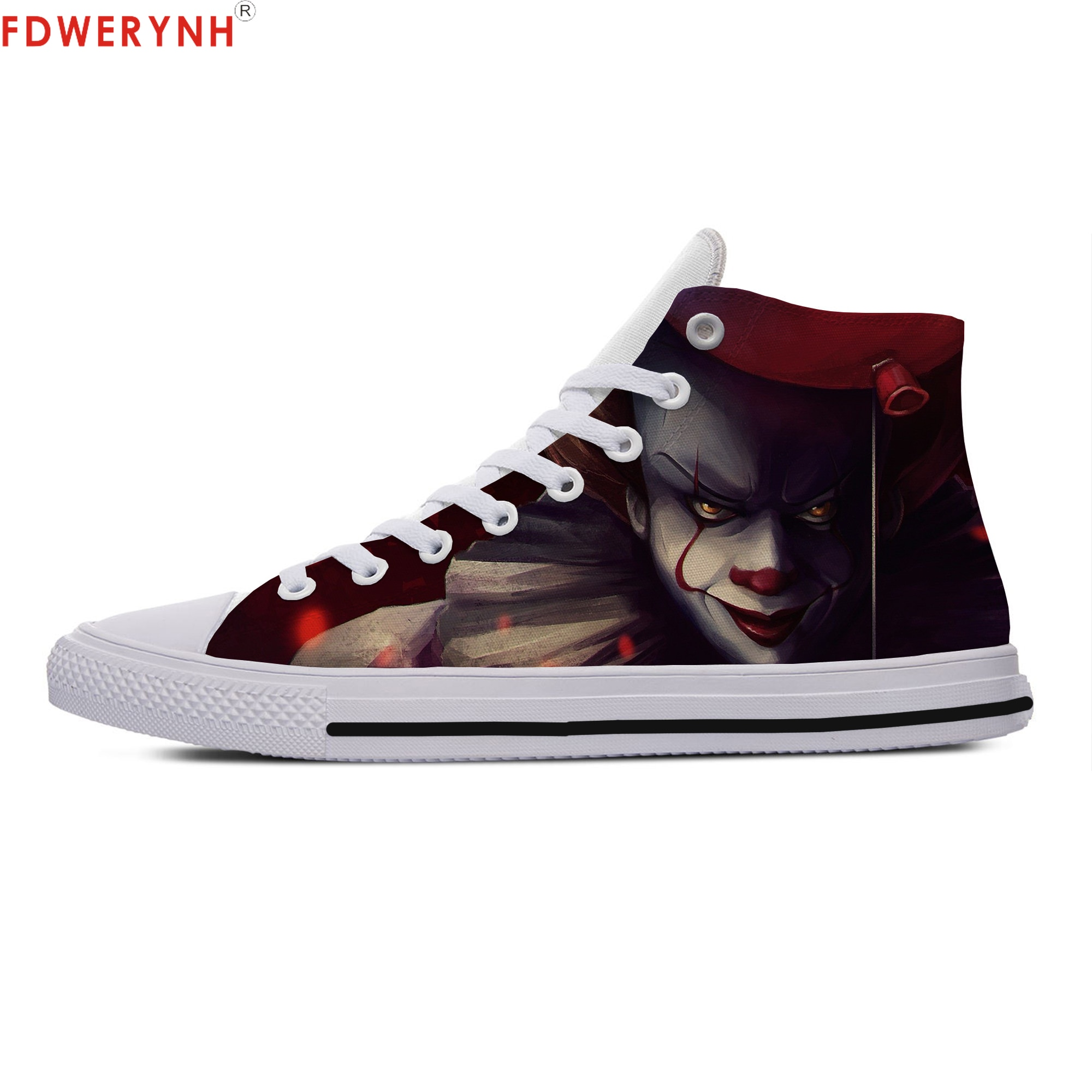 Men Walking Shoes Movie IT Pennywise Clown Stephen King 1990 Horror Movie IT Custom Images Or Logo Flat Shoes pennywise costume stephen king s it scary clown mask costume adult men women horror halloween pennywise the clown costume