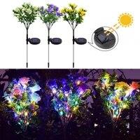 carnation solar light carnation light waterproof garden landscape lamp outdoor lawn lamp home decorative flower night light