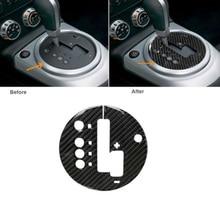 1PC Gear Panel Sticker Carbon Fiber Trim Decoration For Nissan 350Z 2006-2009 Automotive Interior Stickers