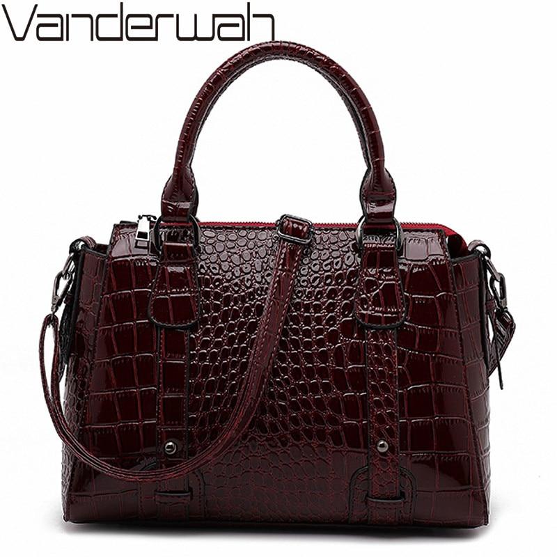 2020 Elegant Big Shoulder Bag Luxury Handbags Women Bags Designer Large Capacity Women Tote Female Crocodile pattern Hand Bags