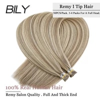 bily i tip hair extensions 16 colors pure color cold fusion 50g50s 20 28 inches keratin extensions remy human brazilian hair