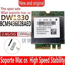 Sans fil-ca BCM943602BAED DW1830 BCM943602 NGFF M.2 1300Mbps 802.11ac WiFi Bluetooth BT4.1 rouge tarjeta Wlan soporte mac os