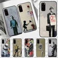 banksy street graffiti phone case for samsung a10 a10s m10 m11 m20 m30 m31 s m21 m51 cover coque