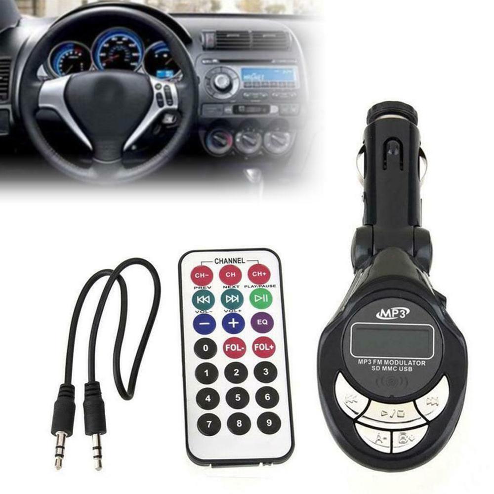 Universal Auto MP3 Musik Player Neuesten styles MP3 Player Wireless FM Transmitter Modulator USB SD CD MMC Fern XRC Auto styling