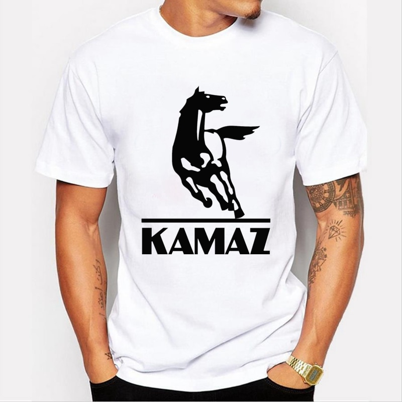 50093 # para kamaz, camiseta para hombre, camiseta top, camiseta de verano, camiseta moderna fresca de cuello redondo, camisa de manga corta
