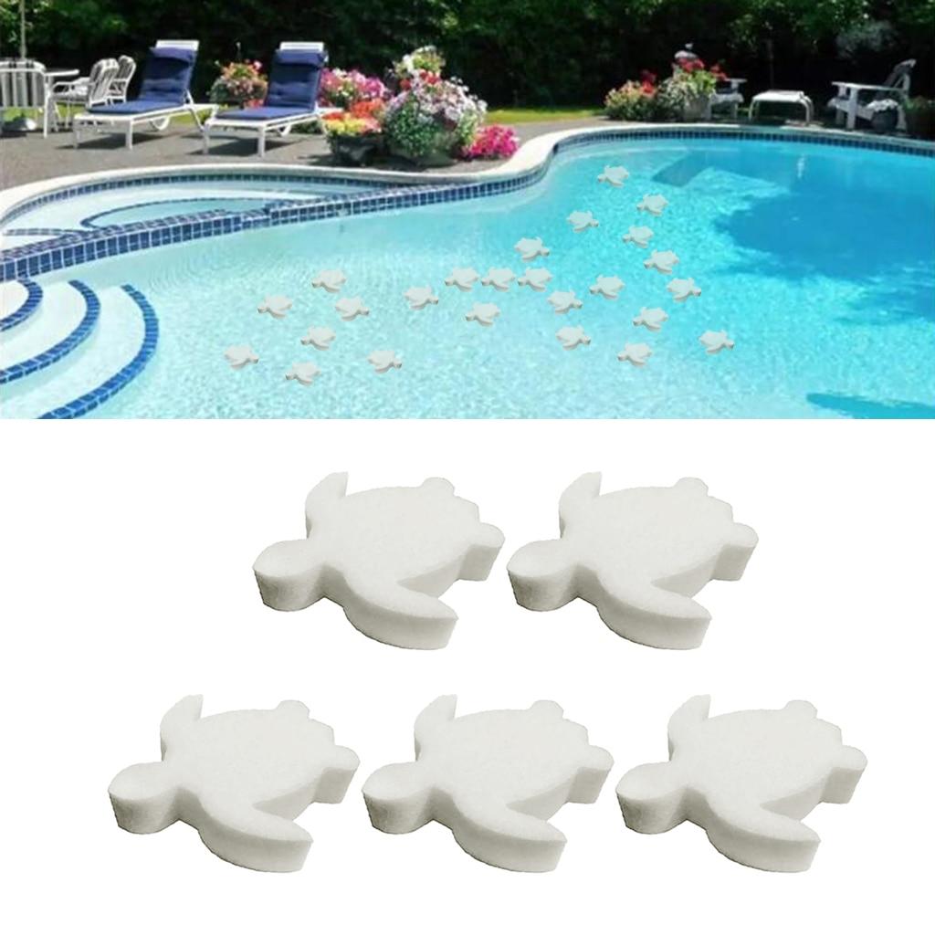 Esponjas blancas absorbentes de aceite, 5 uds., limpiadores de jacuzzi para Spa, elimina aceites y grasa para piscina