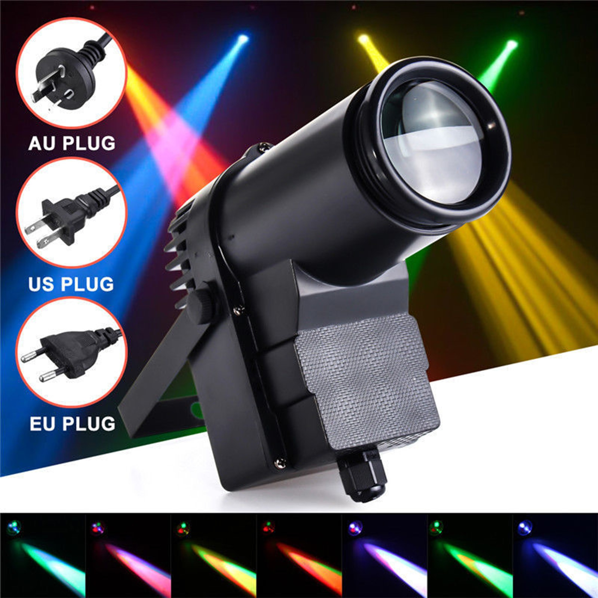 refletor para palco 10w rgbw dmx512 luz para dj disco festa ktv emissor de luz efeito de iluminacao