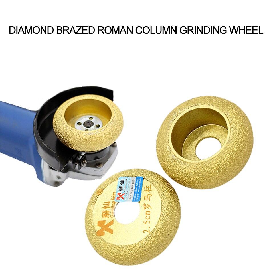 MX Diamond Roman Column Grinding Wheel for Marble Granite Round Edge Discs Sharp Brazed Groove