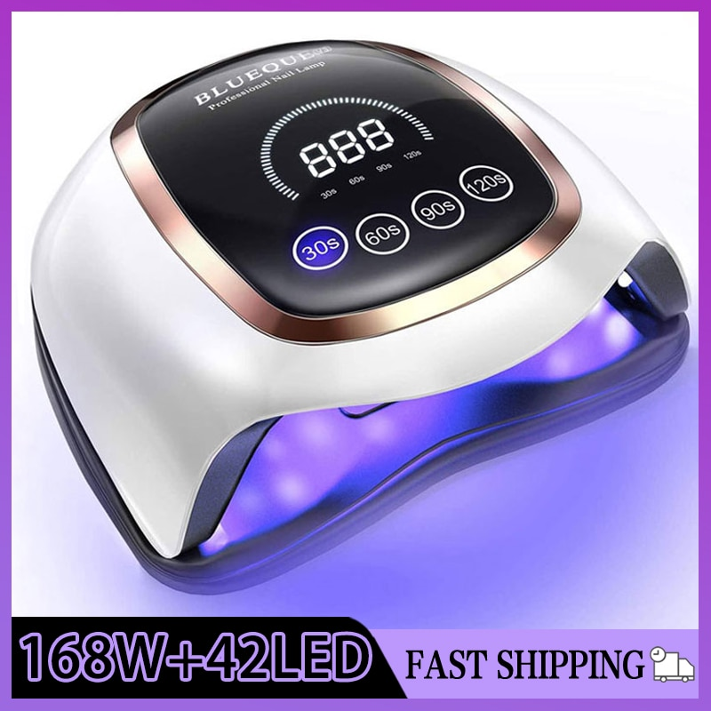 BLUEQUE V3 Touch Button Nail Lamp 168W Large Space LED UV  Lamp High Quality Quick Dry Nail Dryer Professional Nail Drying Lamp