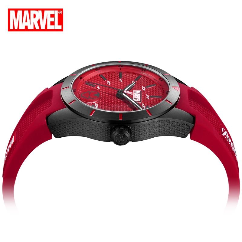 Disney Marvel Official Women Fashion Casual Quartz Wristwatches Capitain America Iron Man Cartoon Date Crystal Glass Luminous enlarge