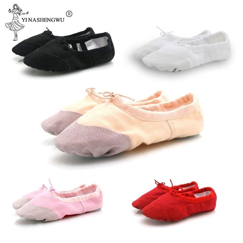 Танцевальные Тапочки для девочек; высококачественные балетки для занятий балетом; 5 цветов; профессиональная обувь для балета